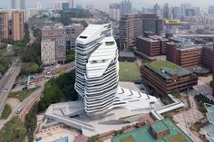 Jockey Club Innovation Tower / Zaha Hadid Architects