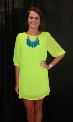 Bold colors need simple silhouettes- Amour Boutique