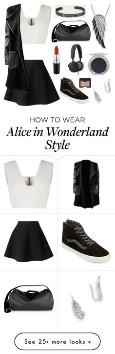 """""""Skater"""" by fashion4life11 on Polyvore featuring MSGM, Vans, BCBGMAXAZRIA, Jewel Exclusive, Rebecca Minkoff, The Row, MAC Cosmetics, T. LeClerc, B&O Play and NARS Cosmetics"""