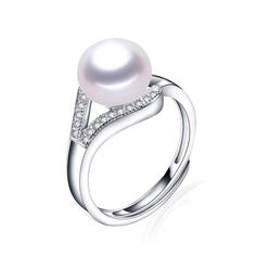 Real freshwater pearl ring