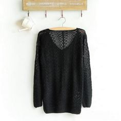 Sexy Hollow Out V-Neck Pullover