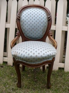 Antique Blue Boudoir Chair...looking for one like this!