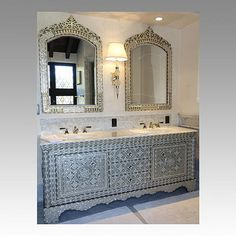 A Customized Bathroom We Designed For Client Alkhayat Fine Art Furniture This Tasteful