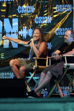 Kirk Hammett and Lars Ulrich Photos - Kirk Hammett and Lars Ulrich of Metallica…