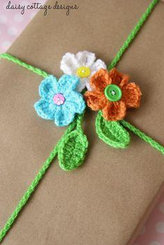 Crochet Pretty Gift Wrapping - Tutorial  ❥ 4U // hf