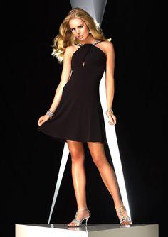 Black Halter Cocktail Dress 35333 - Size 12 CLEARANCE