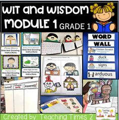 Wit and Wisdom Module First Grade- Module 1 Are you teaching Wit and Wisdom and looking for resources?? Well look no further!!! This packet has everything you need to compliment all 32 lessons in Module 1. You can do ALL of what we include or pick and choose the activities that work best for