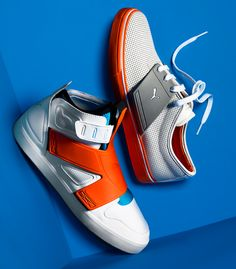 Awesome looking new bright orange Puma high tops!