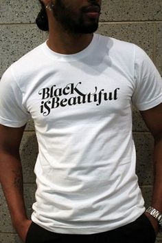 These Black Is Beautiful T-shirts, sold by Harlem's famous Studio Museum. | 23 Ways To Celebrate Black History Month In Style