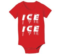 ICE ICE BABY - funny cute retro song musical maternity newborn hip cool girls boys infant outfit clothes - Baby Snap One Piece e1118