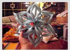 How To Make A 3D Paper Snowflake In 6 Simple Steps #TipIt