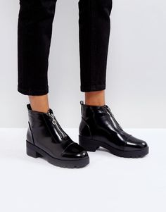 #ASOS - #Truffle Collection Truffle Collection Zip Front Boot - Black - AdoreWe.com