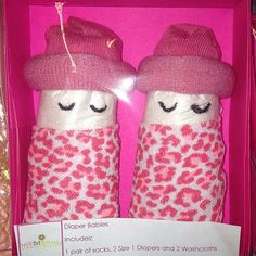 A Set of 2 Pink Cheetah Diaper Babies for Girls by weebittrendy, $7.00