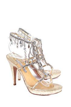 Sandali gioiello con pietre e strass applicati LUCIANO PADOVAN Tg 38 095936b97f1
