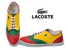ae95378b3cd7c7 Lacoste Mens Sneaker Red Green Yellow Lacoste Sneakers