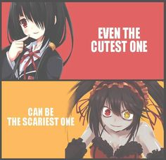 Even The Cutest One Can Be The Scariest One(Kurumi Tokisaki-Date A Live) I feel like this applies to Yuni Gasai too Date A Live, Geeks, Akuma No Riddle, Yandere Girl, Boko No Hero Academia, Anime Qoutes, A Silent Voice, Yandere Simulator, Dark Anime