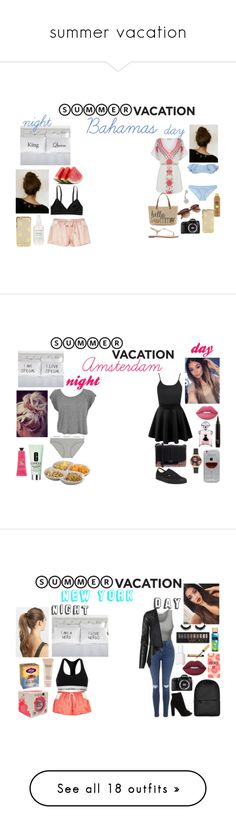 """""""summer vacation"""" by anouklagae on Polyvore featuring mode, Oasis, Eos, Straw Studios, Lisa Marie Fernandez, Bling Jewelry, Forever 21, River Island, Monki en Vans"""
