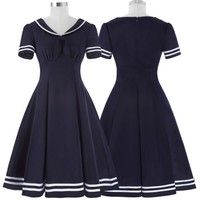 Wish | Women Vintage Retro 50's Pinup Dress Party Evening Cocktail Casual Tea Dresses