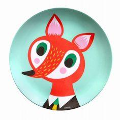 Melamine  plate by Fox