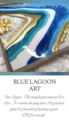 Interiores Shabby Chic, Heaven Art, Resin Artwork, Agate Coasters, Blue Lagoon, Gold Paint, Rocks And Minerals, Art For Sale, Home Interior Design