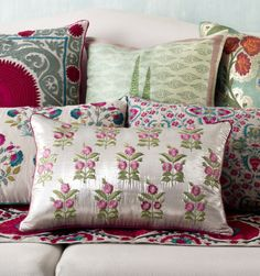 RAJA CUSHIONS Discover our range of rich, evocative and decorative cushions to suit every style. #PillowTalk #Cushions #DesignStory