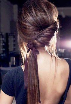 8 simple steps of sleek and low ponytail