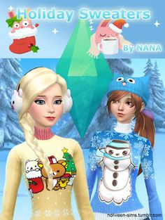 Holiday Sweaters by NANA at Nolween via Sims 4 Updates