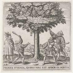 Jonkvrouwenboom, Johann Theodor de Bry, anoniem, 1596
