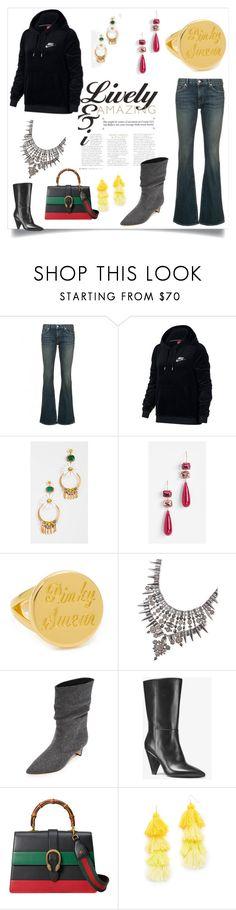 """set sale alert"" by kristeen9 on Polyvore featuring Nili Lotan, NIKE, Elizabeth Cole, Theia Jewelry, Elizabeth and James, Kendra Scott, Sigerson Morrison, MICHAEL Michael Kors, Gucci and Misa"