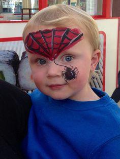 Mini Spiderman design at Palm Beach Plaza, Papamoa. Palm Beach, Spiderman, Carnival, Mini, Creative, Face, Painting, Design, Spider Man