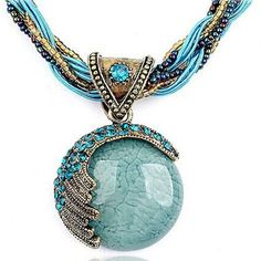 Reiki Ball Crystal Lucky Divination Stone Necklace
