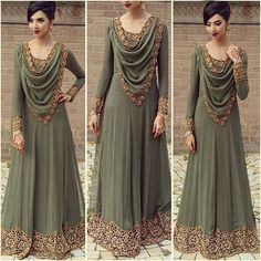 Heyyy Everybadyyy so this was the outfit I wore at my sisters wedding yesterday! Designed by me and made by DOLI came out spot on! I will upload more images In'Sha'Allah! Antique scalloped cutwork design on khakee green material! Went for a very elegant look! Love you all!