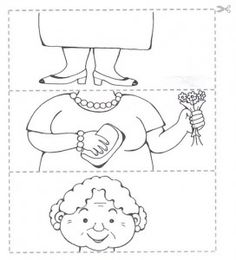 Crafts,Actvities and Worksheets for Preschool,Toddler and Kindergarten.Lots of worksheets and coloring pages. Preschool Puzzles, Preschool Worksheets, Kids Crafts, Grandparents Day Crafts, Puzzle Crafts, Family Theme, Kids Learning, Art For Kids, Coloring Pages