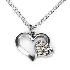 Creative and Beautiful Double Heart Shape Pendent Torque for Fashion Women