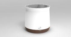 """Cappuccino - 22 cm Innendurchmesser – groß genug auch für ausgewachsene Pflanzen. - 1,5 l Wassertank – was für ein Luxus, nur alle paar Wochen gießen zu müssen! - Optimales Wurzelwachstum durch """"Luftbeschneidung"""": Nie wieder Umtopfen!  AIRY ist kein Blumentopf. AIRY ist ein pflanzenbasiertes Luftreinigungssystem."""