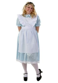 When you wear a Plus Size Alice Costume, don't be surprised if you're just lying in the grass, playing with your cat, and all of a sudden a white rabbit flies by and you chase him down a rabbit hole to Wonderland!