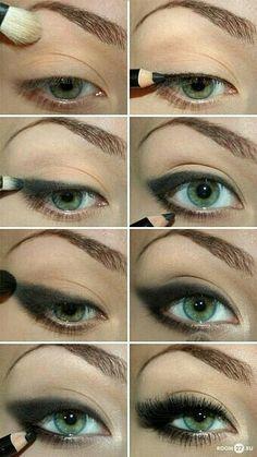 Tuto leger smoky eyes noir