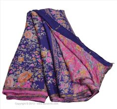 Offer of the day- available for US $0.01... Deal not to miss  VINTAGE INDIAN SAREE PRINTED FABRIC PURE SILK SARI CRAFT ZARI BORDER 5 YARD