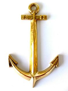 Solid Brass Anchor Wall Decor #ApexExteriors