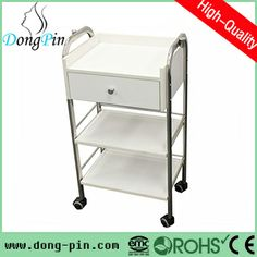 wooden nail station salon cart for sale