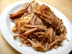 Slow Cooked Pulled Pork Great on naan, rice w/gravy - with taco seasonings on nachos - add to soups - fried rice - with tzatziki in naan as gyro