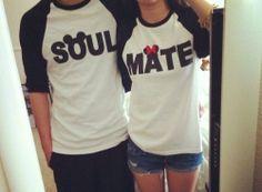 soul mates disney couple shirts