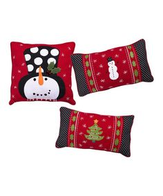 Look what I found on #zulily! Holiday Pillow Assortment Set of Three #zulilyfinds