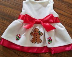 Gingerbread Dreams Designer Dog Dress