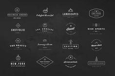 Black & White Hipster Logos