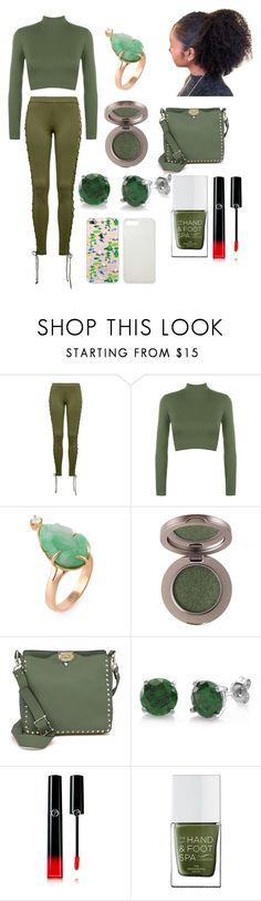 """""""Modern Princess Series #6 Tiana, from the Princess and the Frog"""" by thegirlwithglasses1354 ❤ liked on Polyvore featuring Puma, WearAll, Valentino, BERRICLE, Giorgio Armani, The Hand & Foot Spa, modern and modernprincessseries"""