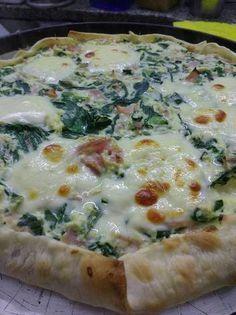 Tarta de acelga, ricota y jamón #recetas