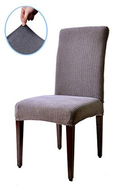Subrtex Dyed Jacquard Stretch Dining Room Chair Slipcovers 4Gray Checks >>> Continue to the product at the image link.Note:It is affiliate link to Amazon.