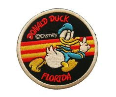 Donald Duck Florida Disney Embroidered Applique Iron on Patch
