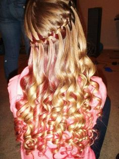 French braid with Curly hair